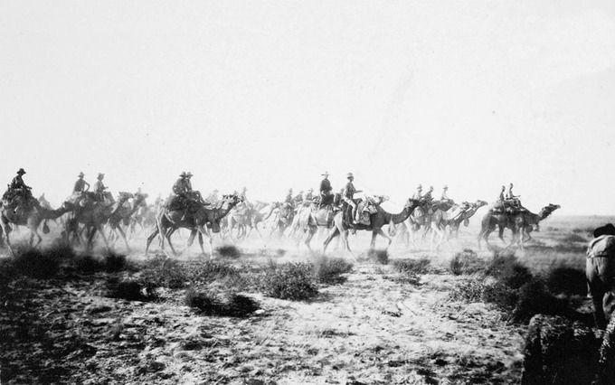 Australian Camel Corps at Sharia near Beersheba, December 1917