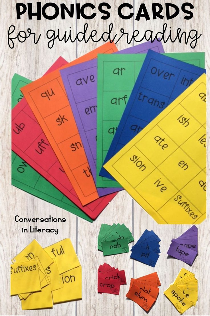 Phonics cards are great printable teaching resources for word work time in guided reading small groups or reading intervention time! Phonics activities cover short vowels, blends and digraphs, long vowels, r controlled vowels, vowel combos, prefixes and suffixes. Students read the phonics cards quickly as brain warm ups or to build fluency with sound chunks. Easily differentiated by using the set of cards that matches each small group! kindergarten, first grade, second grade, third grade