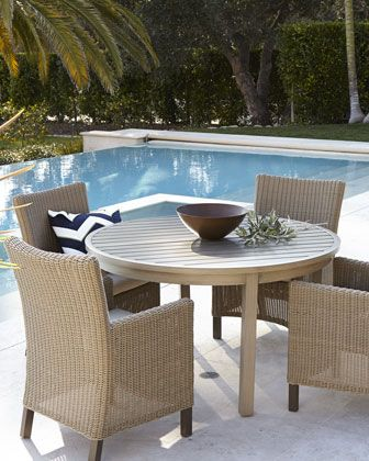 Portico Outdoor Dining Table U0026 Alyssa Chair Outdoor Living And Entertaining  Takes On New Flair With