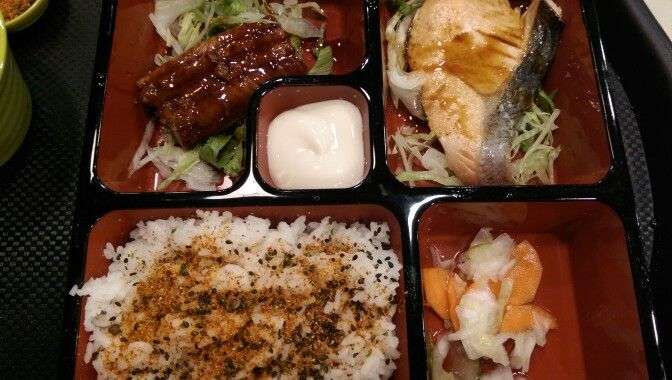 Bento Set #salmon #grilled #unagi(eel)