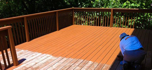 Deck Paint Colors before and after