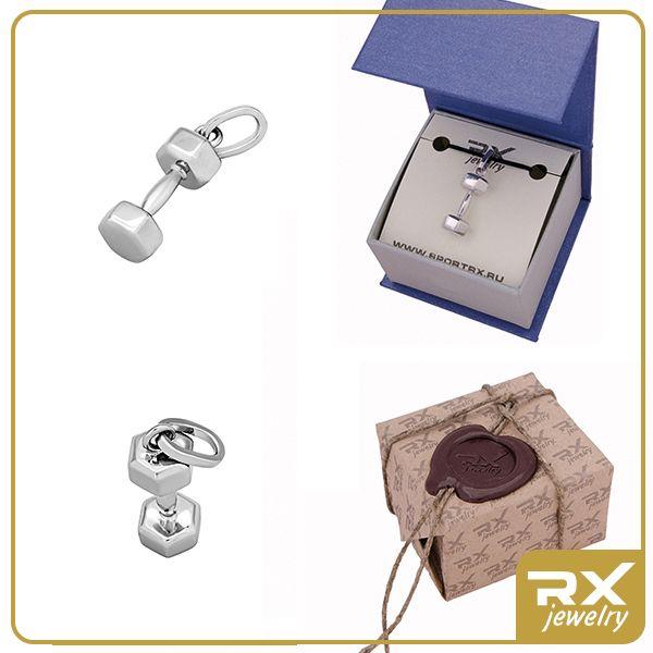 Каталог : Серебряная подвеска в виде гантели - Sport RX Jewelry - Спортивные ювелирные украшения