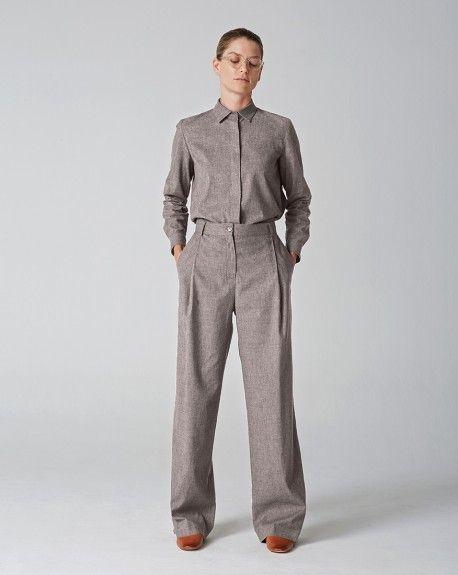 Camisa gris LUA  Latitude ropa - moda sostenible hecha en España.   https://wearelatitude.eu/es/moda-sostenible-mujer/camisa-gris