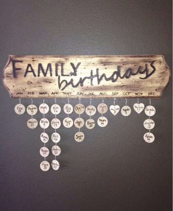 A creative way to keep track of your family members birthdays
