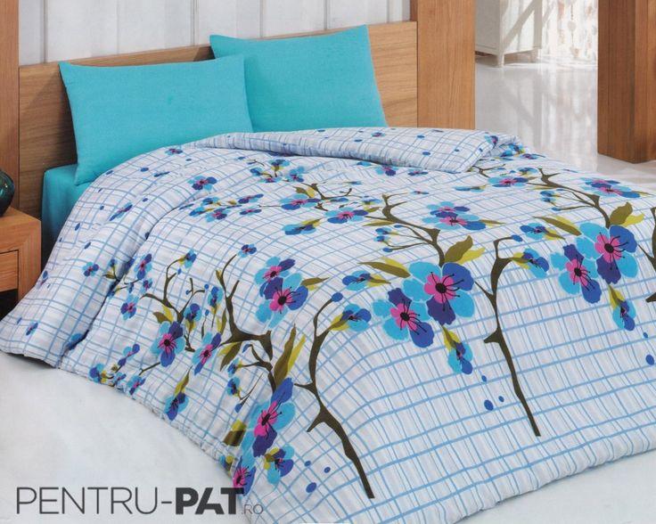 Set cuvertura pat pentru o persoana Anatolia light blue