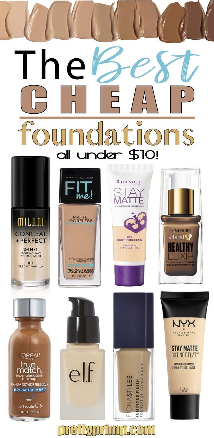 You don't have to drop a lot of money to get a great foundation! Check out this list of the best drugstore foundations for oily skin, dry skin, and anything inbetween! These foundations are the perfect dupes for higher end products.