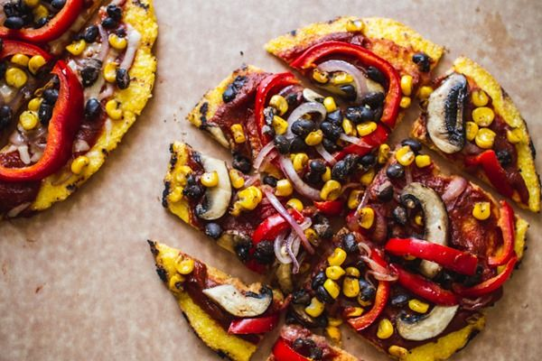 Mexican Grilled Polenta Pizza | edibleperspective.com #glutenfree # ...
