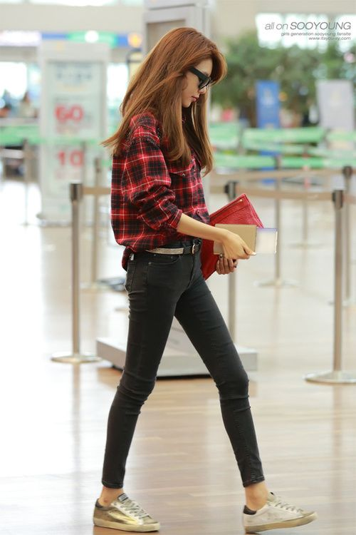 Snsd Sooyoung Korean Stars Airport Fashion Casual Style Pinterest To Tell Kpop And