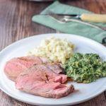 Plated+really+lovely+roasted+boneless+leg+of+lamb