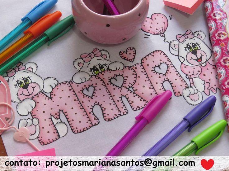 Letras pintura fraldas pinterest pintura em tecido - Pintura infantil pared ...
