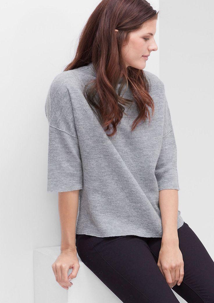 Strickpulli aus melierter Wolle von s.Oliver. Entdecken Sie jetzt topaktuelle Mode für Damen, Herren und Kinder online und bestellen Sie versandkostenfrei.