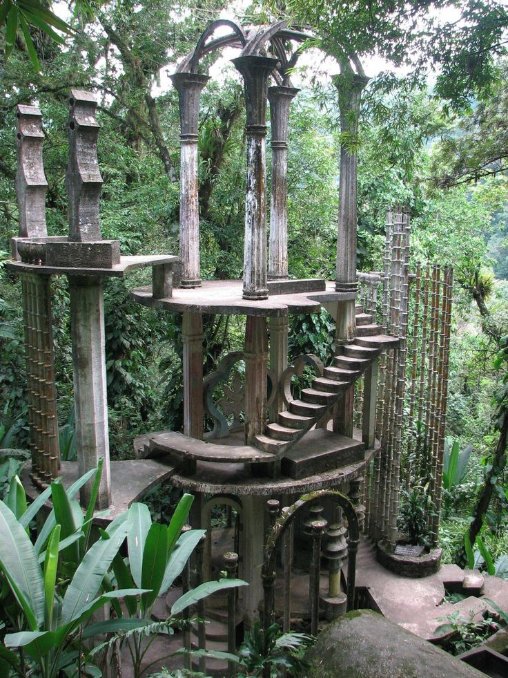 Las Pozas, MX - surreal architecture left to the jungle's whims