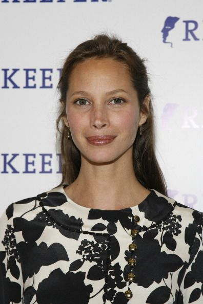 Christy Turlington Burns during Riverkeeper Hosts a Gala Benefit Dinner Honoring Hearst Corporation April 19 2007 at Chelsea Piers in New York City...