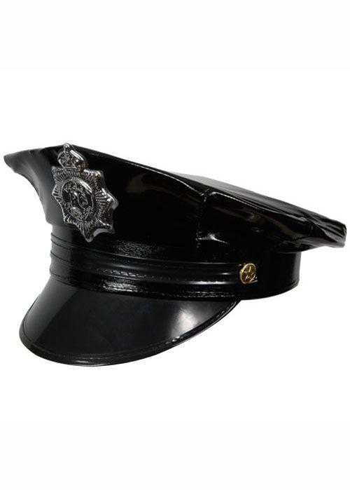 Ladies Deluxe WPC POLICE HAT Badge Cap Police Lady Helmet British Fancy Dress