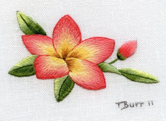 Распродажа Trish Burr вышивки Kit: Frangipani