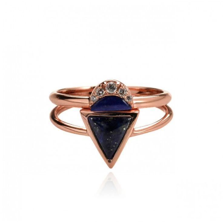 AZTEC DREAMING RING SET - LAPIS - Fine Jewellery | SAMANTHA WILLS