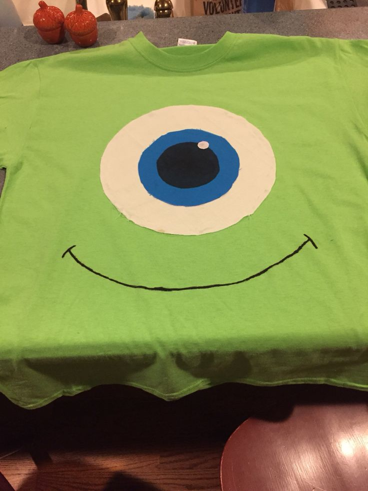 DIY Mike Wazowski costume for homecoming week!