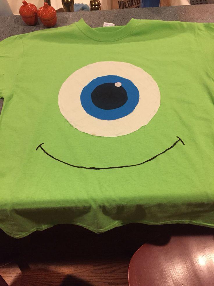 DIY Mike Wazowski costume for homecoming week!