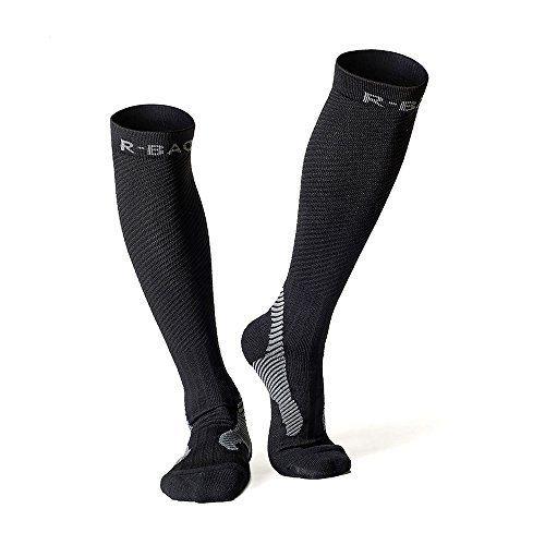 Chaussettes de compression pour running, cyclisme, triathlon, fitness, crossfit et voyages (rembourré, compression, unisexe pour hommes et…