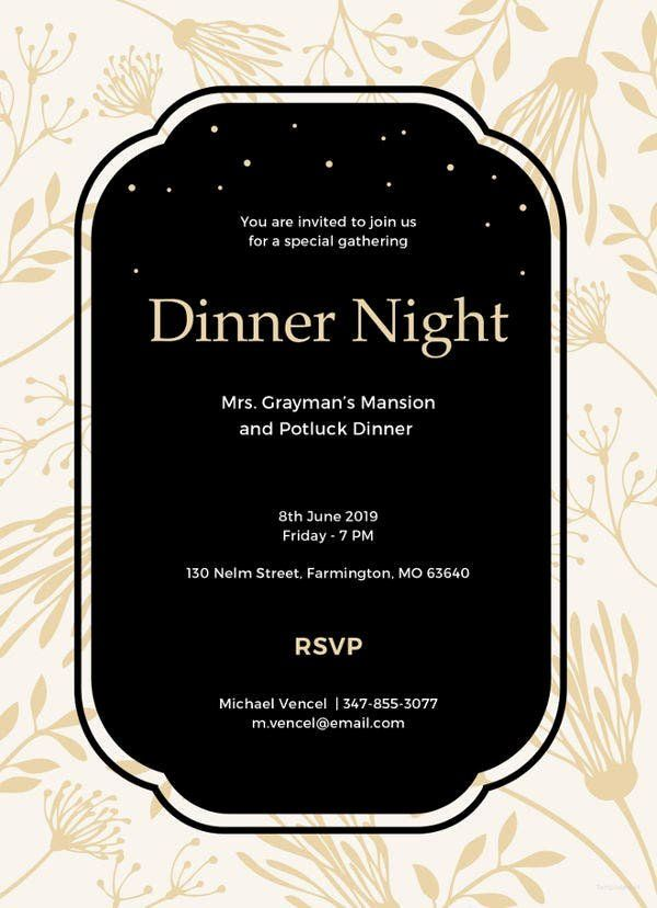 Dinner Party Invitation Templates Beautiful 8 Dinner Invitation Card Templates Psd Ai Dinner Party Invitations Party Invite Template Dinner Invitation Template