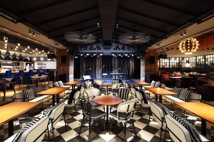 Japan's New York style 'Living Room Cafe by e-plus' in the Tokyo ward of Shibuya. Martin Audio DD12, DD6 and XD12 premium loudspeakers take care of the audio.