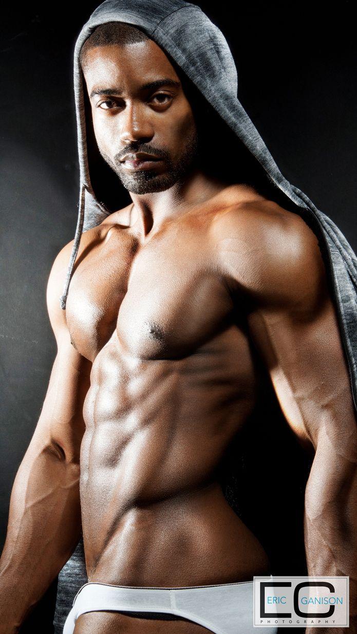 Nude black fitness models