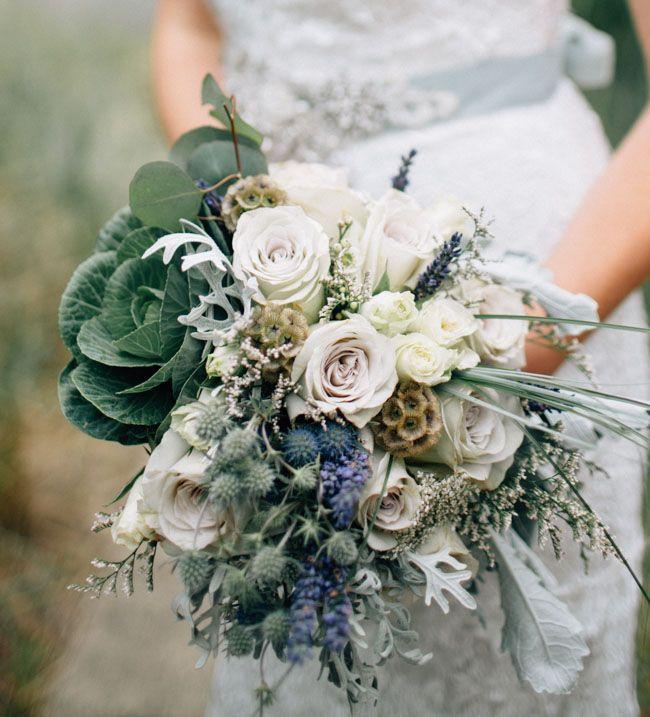 Muted ocean blue bouquet