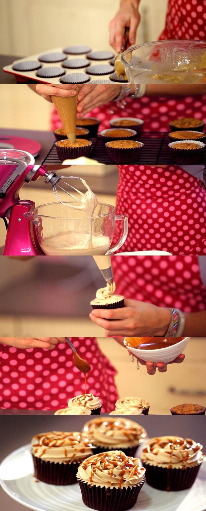 Cupcake Maniacs 12: Cupcakes de manzana y caramelo