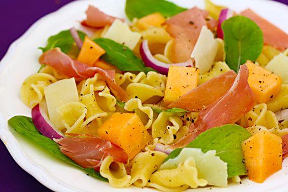 Prosciutto & Melon Pasta Salad
