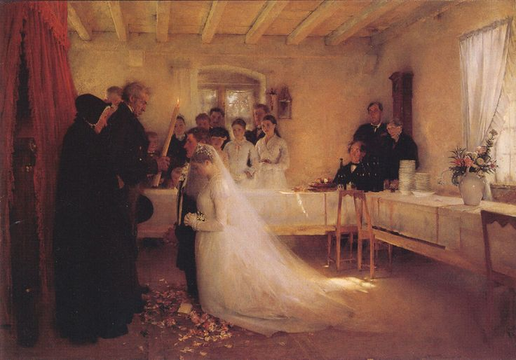 Pascal Dagnan-Bouveret - Blessing of the Young Copule Before Marriage