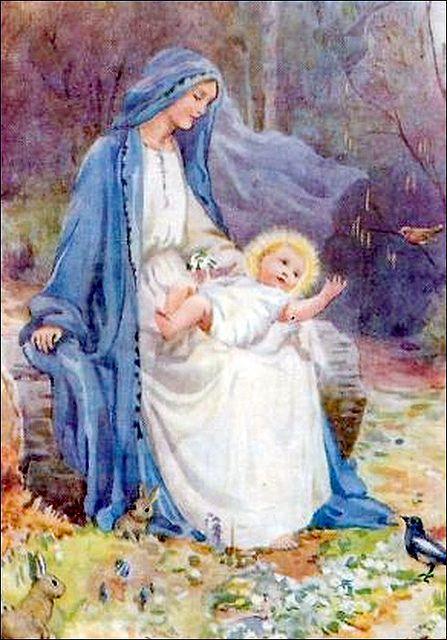 Jesús en los brazos de la Virgen, está feliz !!! Y desde allí nos llama para que seamos sus amigos.