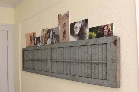 How to Decorate Old Shutters   Repurposed Shutter Shelf