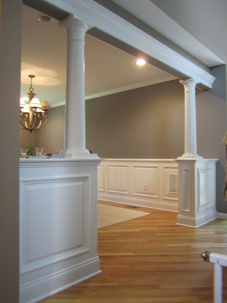 How To Build Decorative Columns half wall with columns - Bolton CT | Home Ideas | Pinterest