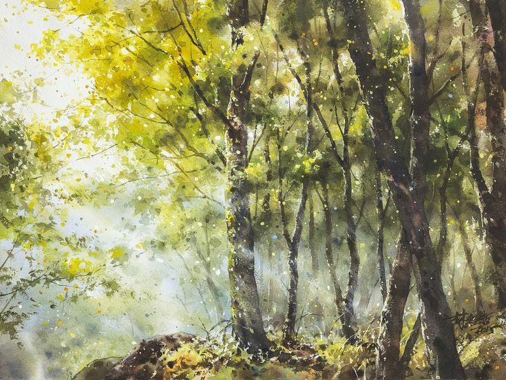 https://flic.kr/p/BHV317 | 林經哲 Lin Ching-Che 《微風》2015 Watercolor 28.5×38cm | (SOLD)