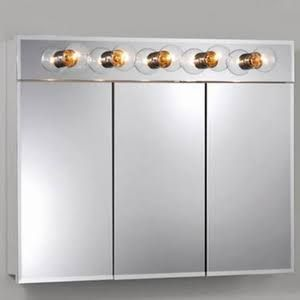 1000 ideas about medicine cabinets with lights on - Built in medicine cabinets in bathroom ...