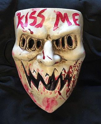 "The Purge 3 Mask ""Kiss Me"", Election Year, Horror, Halloween, Cosplay unisex"