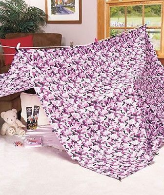 Fort Kit Indoor Play Tent Camo Purple Kids Playland Child Development Toy Game