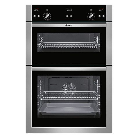 Buy Neff U15E52N5GB Double Built-In Electric Oven, Stainless Steel Online at johnlewis.com