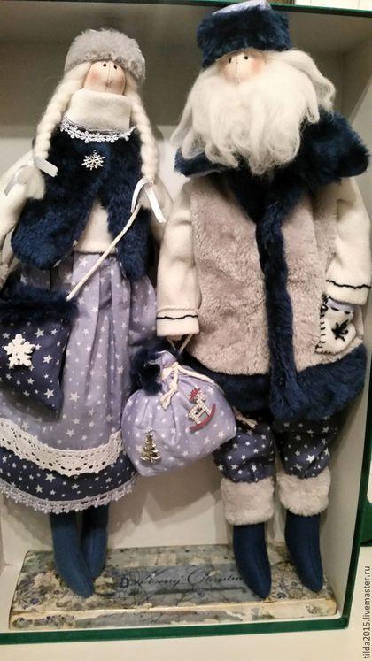 Купить Дед Мороз и Снегурочка Тильда - комбинированный, Дед Мороз и Снегурочка…