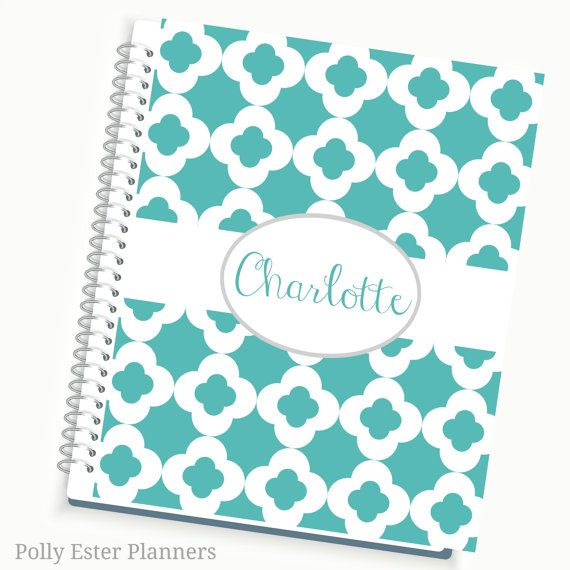 Planners and Organizers, Personalized Planners, 2016 - 2017 Daily / Weekly / Monthly Planner with High Quality Papers, Laminated protected Tab
