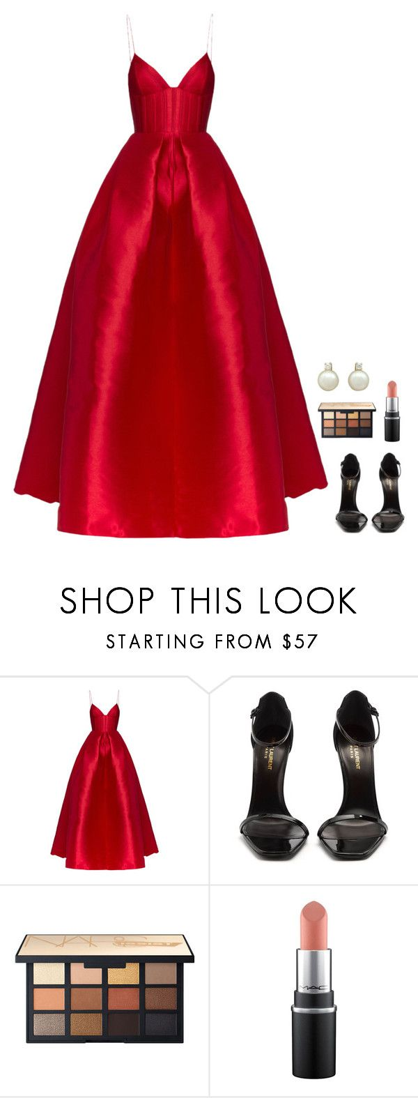 """""""Untitled #1274"""" by h1234l on Polyvore featuring Alex Perry and Yves Saint Laurent"""