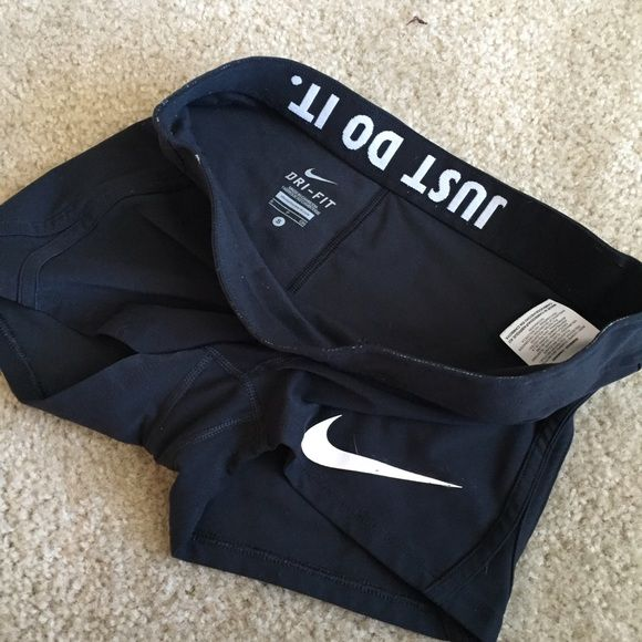 Nike compression shorts Just do it roll down waistband. Volleyball or compression running shorts. Gently used. Open to offers! Nike Shorts