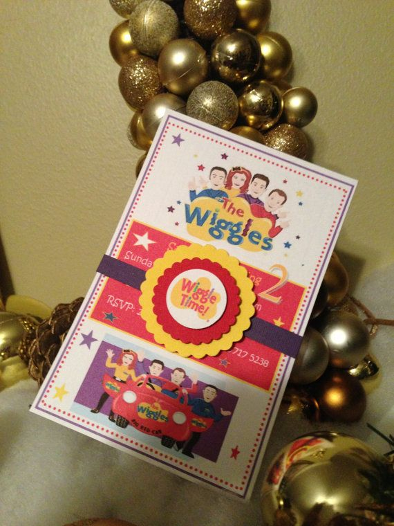 New...WIGGLES Invitations by YourPartyStore on Etsy