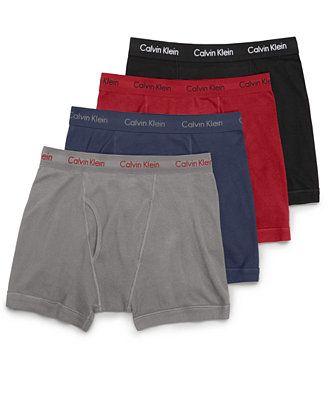 Calvin Klein Men's Boxer Briefs 3+1 Pack - A Macy's Exclusive XL Black