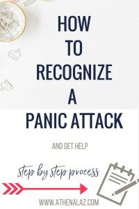 How to recognize a panic attack - by licensed psychologist Athena Laz