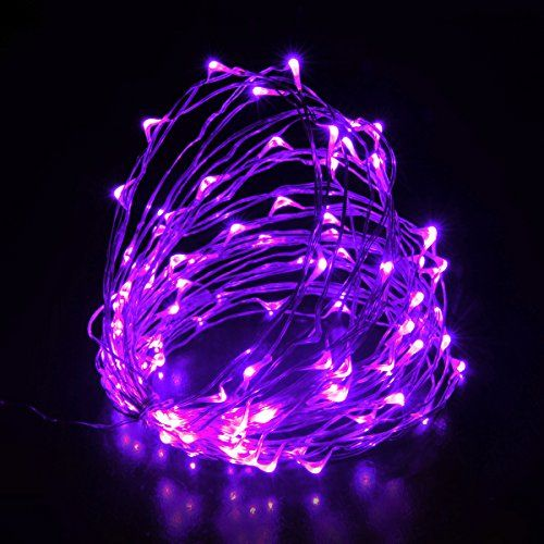 Infinite power LED light string Christmas light 10 meters  33 feet 100 LED lung rope lamp Christmas holiday decoration indoor outdoor wedding Party purple * Want additional info? Click on the image.