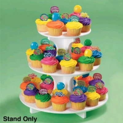 Round shaped Disposable Cupcake Stand - treat tree