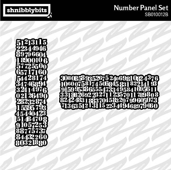 Messy Stencilled Number Panel Cutout