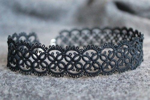 Handmade collana del chocker pizzo nero