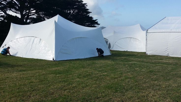 It was a very hot morning to finish setting up at Ina's wedding. For more info go to topcover.co.nz